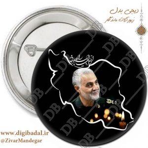 پیکسل سردار سلیمانی در نقشه ایران