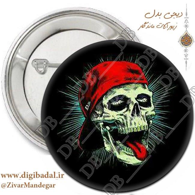 پیکسل جمجمه اسکلت با کلاه قرمز (پیکسل-جاسوییچی)