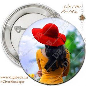پیکسل دخترونه طرح کلاه قرمز