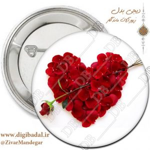 پیکسل عاشقانه طرح گل و قلب