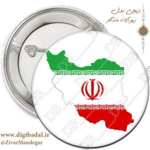 پیکسل پرچم ایران در نقشه ایران