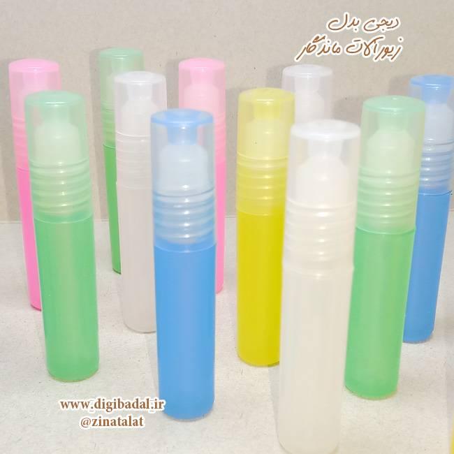 شیشه عطر پلاستیکی غلتکی 2.5 میلی لیتر